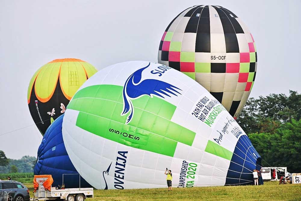 Štart balonov letališče Rakičan