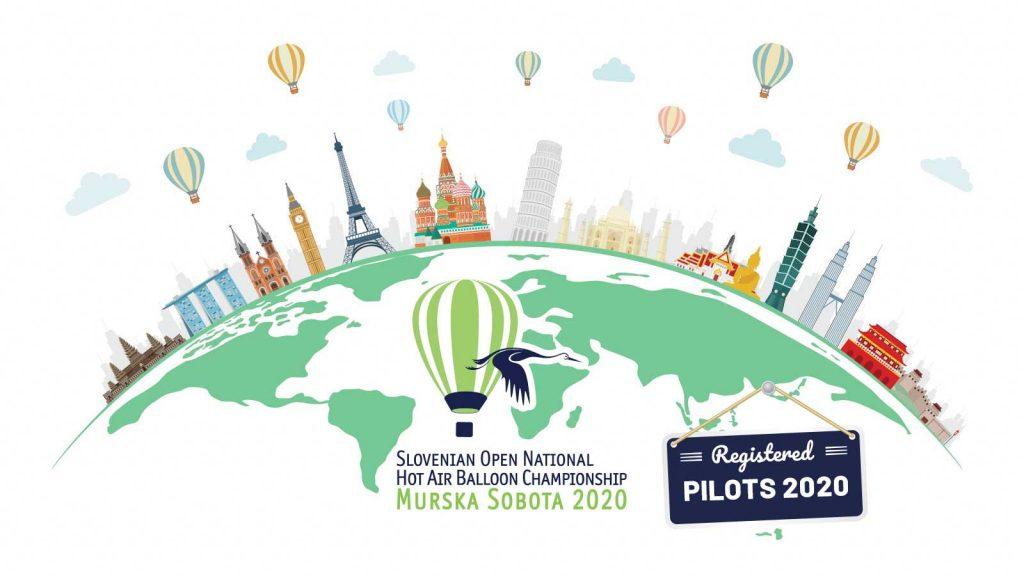 Registered Pilots Slovenian Open National Hot Air Balloon Championship Murska Sobota 2020